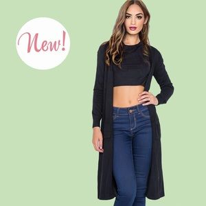 New!  Cozy Button Front Duster Cardigan Sizes S-XL